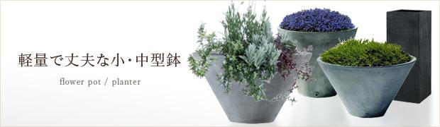 鉢 プランター:軽量で丈夫な小・中型鉢