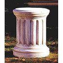 イタリア製石像台座:サロニカ(直径48cm、高さ60cm)