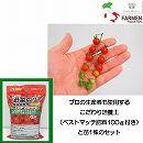 生食用イタリアントマト:イタリアンマイクロレッド3.5号ポット苗と培養土20リットルと追肥不要の肥料100グラムのセット