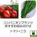 コンパニオンプランツ栽培セット:生食用イタリアントマト無農薬:イタリアンレッドと大葉ニラ