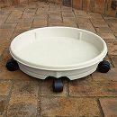 キャスタープレート40型アイボリー(鉢受け皿・直径41cm)