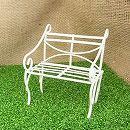 リトルガーデン:ガーデンベンチ(ホワイト)LG-003WH(幅約8cm)