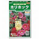 [豪華な八重咲大輪種 春、秋まき 花タネ]ホリホック(タチアオイ):サマーカーニバルの種