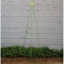 ニチカン カラーポール(支柱)と支柱キャップのセット(直径0.8cm長さ150cm)
