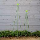 ニチカン カラーポール(支柱)と支柱キャップのセット(直径0.8cm×長さ120cm・150cm)