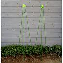 ニチカン カラーポール(支柱)と支柱キャップの2組セット(直径0.8cm長さ150cm)