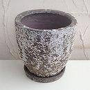 塩焼き鉢:ラウンドポットLサイズ直径25cm(SVTT-1604-L)・皿付き