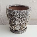 塩焼き鉢:ラウンドポットSサイズ直径20cm(SVTT-1604-S)・皿付き