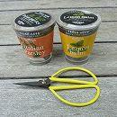 [ギフトに]フレッシュハーブ:レモンバームとイタリアンパセリ栽培セット(底面給水)ミニハサミ付き