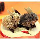 たわしのアニマルオーナメント(ESCOBA):ミニウサギ2匹セット