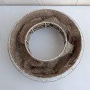 メッシュプランター:ラウンド・麻付き(ホワイト)直径35cm FMP01-35W