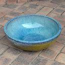 陶器水鉢・浅型LF1219小(直径36.5cm)(穴無し)