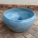 陶器水鉢・青LF1223大(直径45cm)(穴無し)