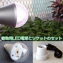 植物専用LED電球とソケットのセット(植物育成ランプ用ソケット1.5mコード付き)