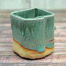 信楽焼き 小鉢(約1.5号):青銅角1715-05