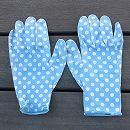 フィットして作業しやすいガーデニング手袋(水玉)Mサイズ