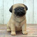 犬のオーナメント:パグ(高さ20cm)