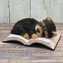 犬のオーナメント:ヨークシャーテリア(Book)(高さ10cm)