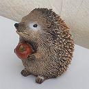 ハリネズミブレイキング:リンゴ両手持ち