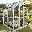 [送料無料] 家庭用屋外温室プチカ:1坪タイプWP-10(ドアタイプ)
