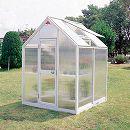 [送料無料] 家庭用屋外温室プチカ:1坪タイプ ポリカーボネートWP-10P(ドアタイプ)
