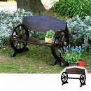 ベンチ:焼松車輪ベンチ