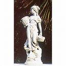 イタリア製石像:花かごを持つ乙女(小)