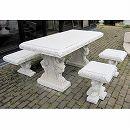イタリア製大理石ガーデンファニチャー:角型ベンチ