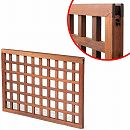 [送料無料]木製高級トロピカルフェンス:M 碁盤格子5枚セット(格子板3cmレール)