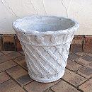 ホワイトガーデン:バスケットポット35.5cm