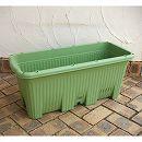 貯水機能付き野菜プランター:楽々菜園深型750支柱フレーム付4個