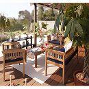[送料無料]フウガ:コーヒーテーブル・アームチェアー・ベンチのセット