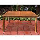 [送料無料]アカシア材のダイニングテーブル135