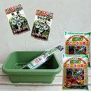 ベビーリーフミックス(フレンチ・和風)栽培セット(種2袋・培養土・プランター・虫よけネットセット)