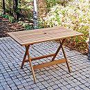 [送料無料]アカシア材のガーデン家具:スクエアテーブル120(4人用)