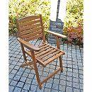 [送料無料]アカシア材のガーデン家具:フォールディングアームチェア2脚セット