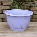 プラスチック製カラーズ底面給水鉢(ラベンダー)2個セット