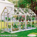 [送料無料] 家庭用屋外温室プチカ2.0坪タイプWP-20H(引戸タイプ)