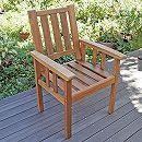 [送料無料]アカシア材のガーデン家具:ドゥラボ・アームチェア2脚セット