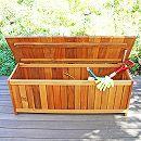 [送料無料]アカシア材のガーデン家具:ドゥラボ・ストレージキャビネットベンチ
