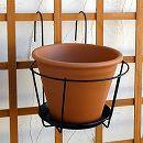 プラントホルダーシングル大(幅22cm・5号鉢用)とテラコッタ鉢のセット